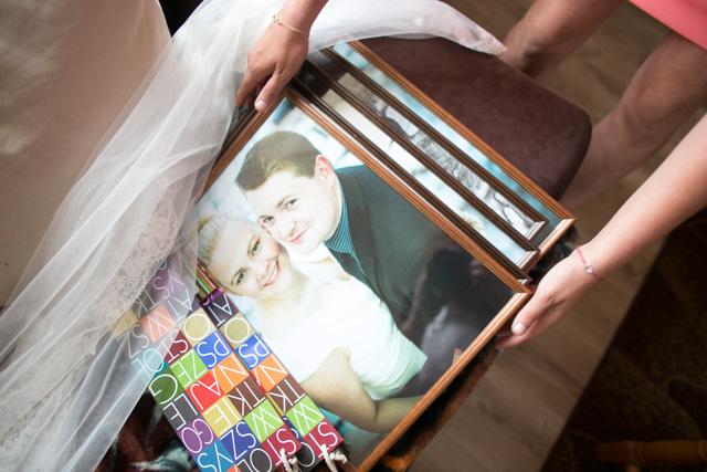 Oprawione fotografie dla rodziców.